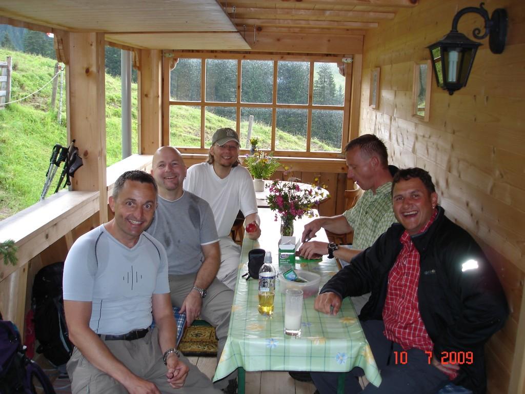 Biberacher Hütte - das erste Bierchen