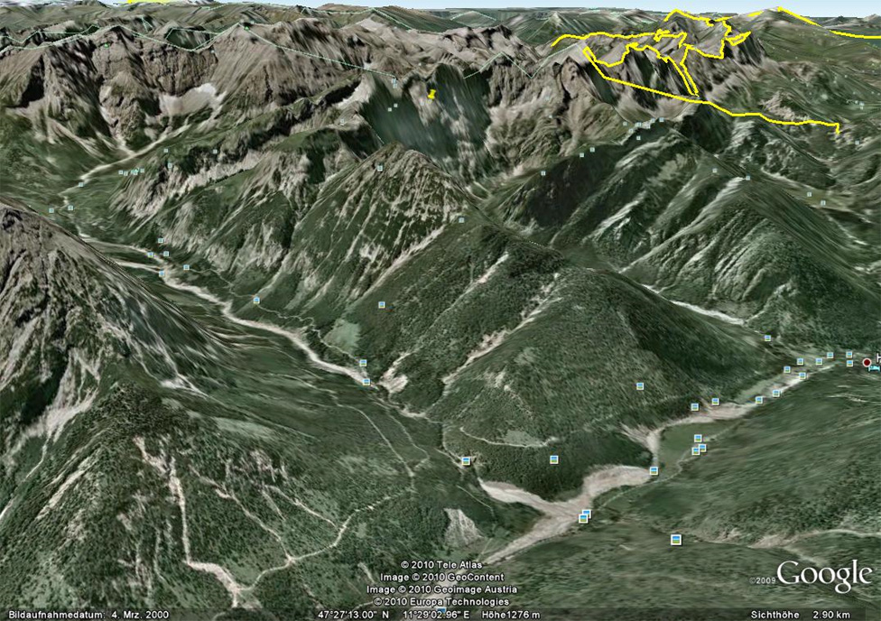 Vom Karwendelhaus über das Johannestal zum Parkplatz P4