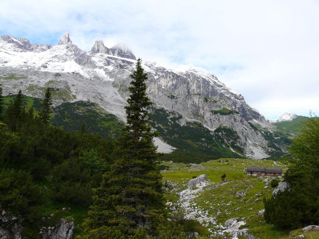 das Panorama von der Lindauer Hütte zum Schweizer Tor