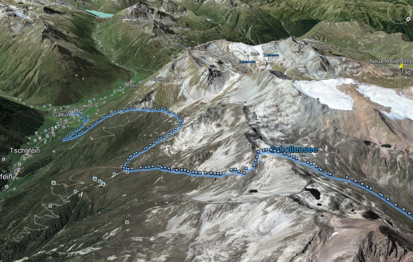 TdT 2015 - Geländeprofil von Tag 3 (Abstieg)