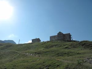 Blick zurück auf die Heilbronner Hütte