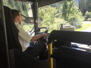 58 km Busfahrt nach Galtür mit telefonierendem Busfahrer